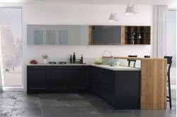 Кухня с наборными крашеными фасадами